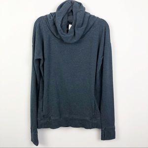 Lululemon   Dark Blue Cowl Neck Sweatshirt